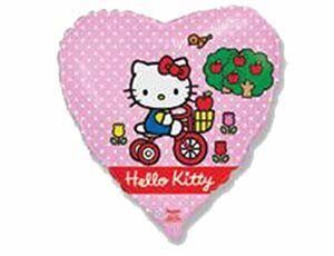 "27/ Ф 18"" Hello Kitty на велосипеде/FM"
